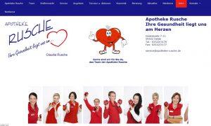 Homepage für eine Apotheke,
