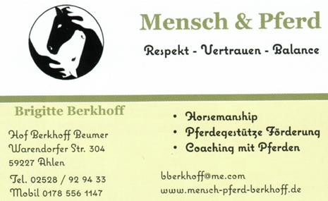 Mensch & Pferd Brigitte Berkhoff / Hof Berkhoff