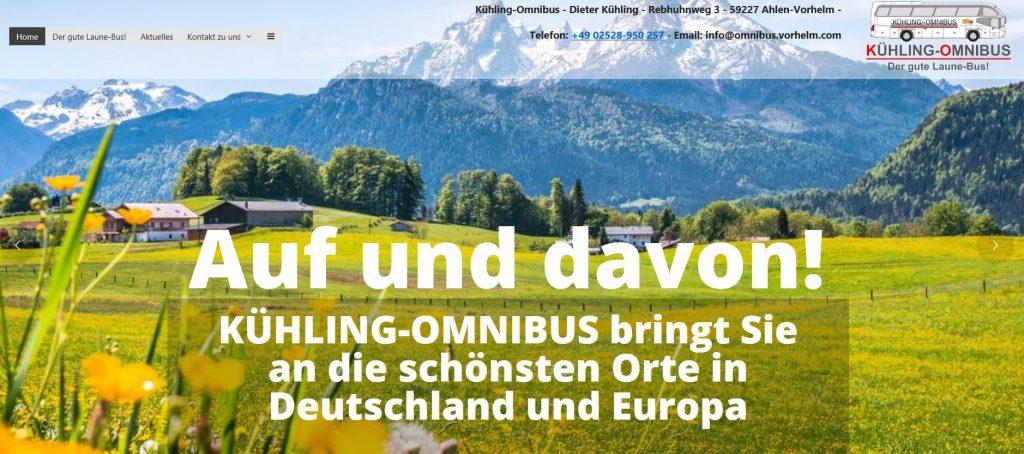 Homepage Kühling Vorhelm-Ahlen, Homepageerstellung