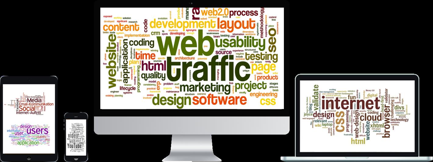 modernes webdesign full-service für die Website
